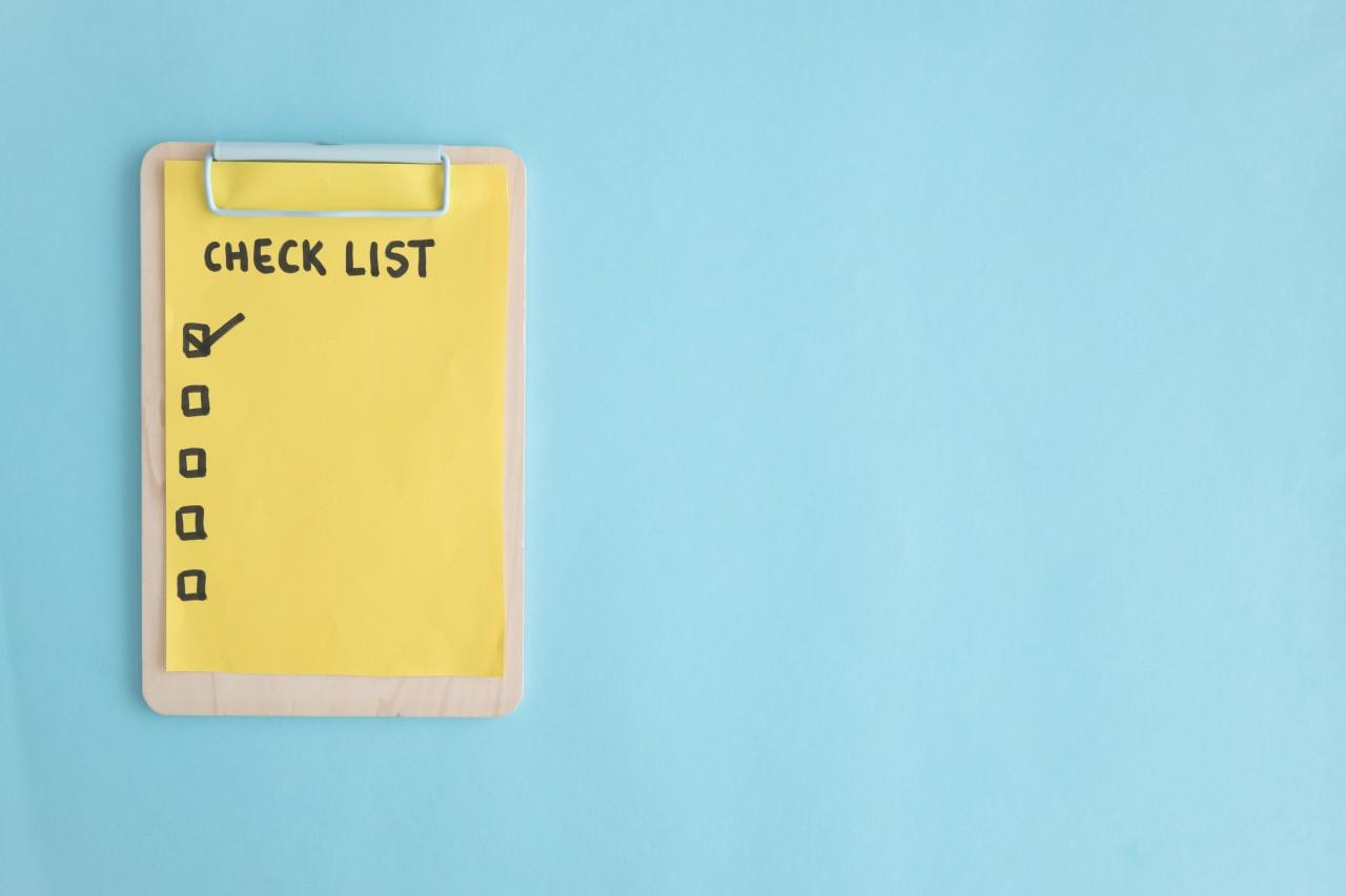 Checklist marcatempo